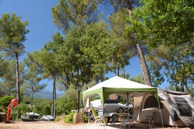 A campsite in Provence