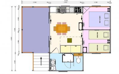 Plan de la Cabane Lodge